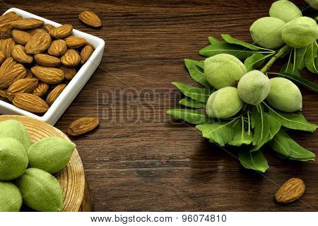 Almond Branches And Nuts