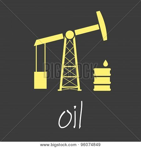 Oil Production Theme Symbols Simple Banner Eps10