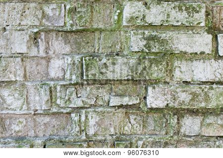 The brick texture with cracks and scratches can be used as a background