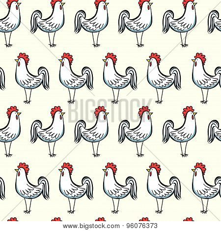 Roosters Pattern