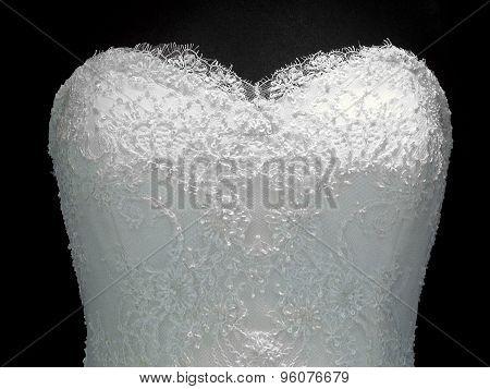 Wedding Dress With Heart Neckline