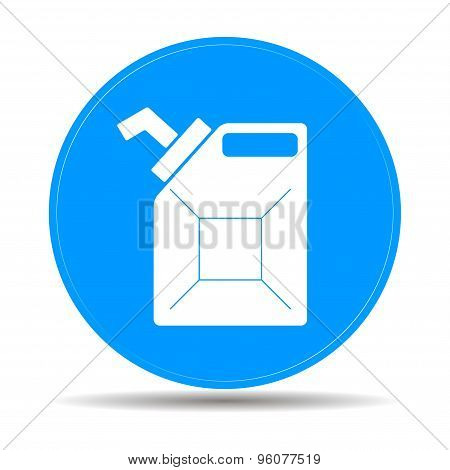 Jerrycan Oil Vector Icon