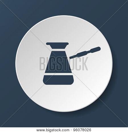 The Turk Icon. Coffee Symbol. Flat Vector Illustration