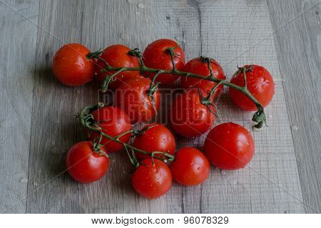 Vine Of Red Cherry Tomatoes