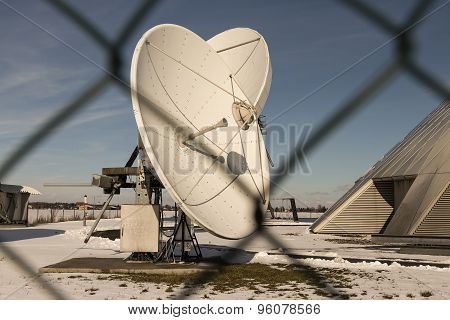 Closer look at a satellite dish