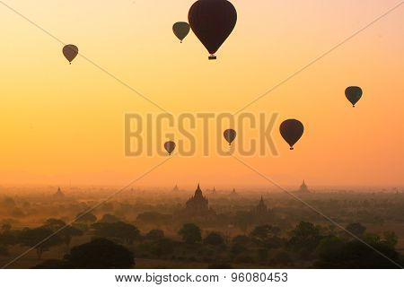 Sunrise in Bagan, Myanmar