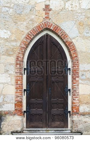 Detail of an old church door