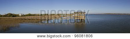 Pier on a river in the southern part of the United States