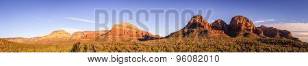 Panoramic view of Red Rocks buttes near Sedona, Arizona.