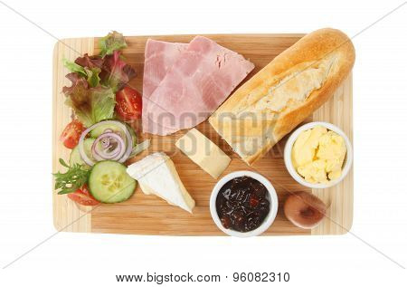 Ham Cheese Ploughmans