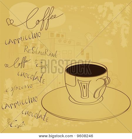 Background With A Cup Of Coffee