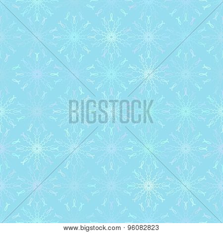 Abstract vector background Seamless ornamental blue texture