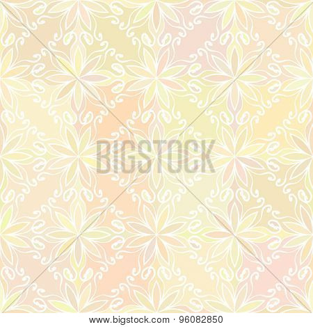 Abstract vector background Seamless floral texture Yellow color