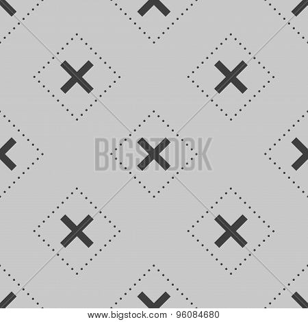 Seamless Patten Made From Crosses and Dots