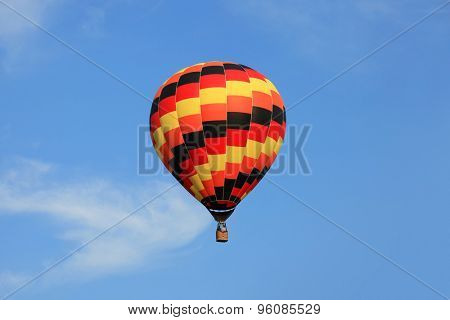 Colorful hot air balloon in the sky