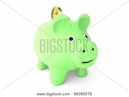 ecology piggy bank savings concept