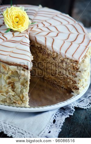 Traditional Hungarian Esterhazy cake