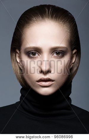 Portrait Of A Woman In Black Turtleneck
