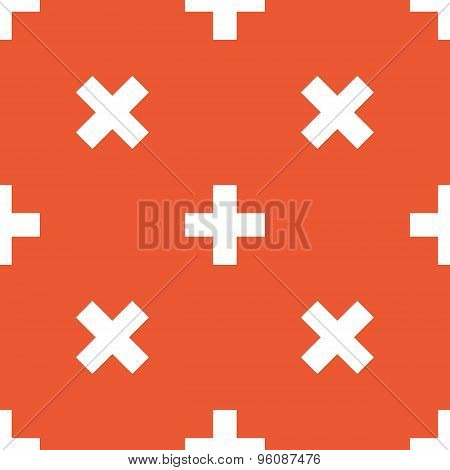 Orange plus pattern