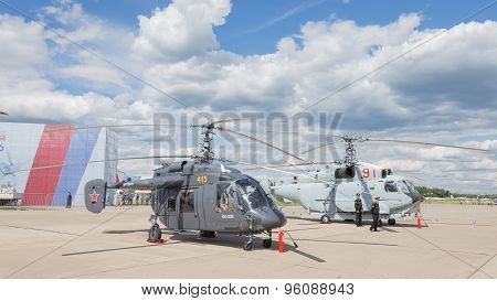 Helicopter At An Airshow In Kubinka