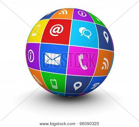 Contact Us Website Icons Globe