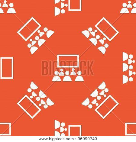 Orange audience pattern