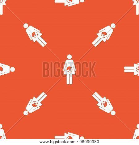 Orange pregnant woman pattern