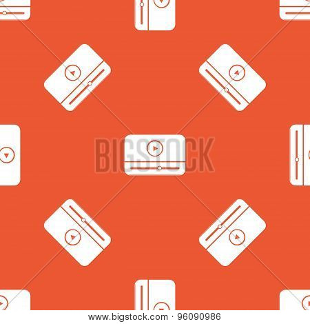 Orange mediaplayer pattern