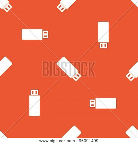Orange USB stick pattern