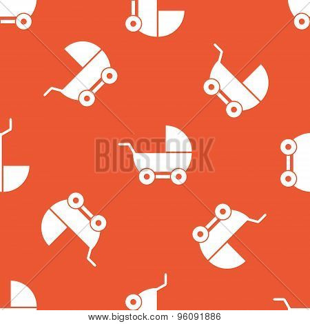 Orange pram pattern