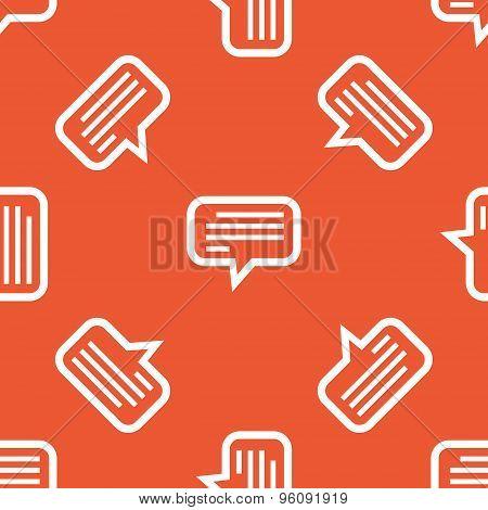 Orange text message pattern