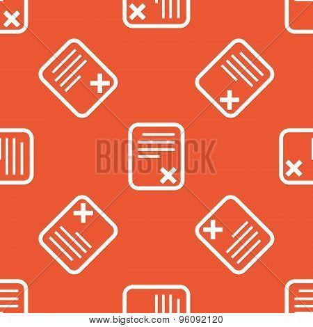 Orange declined document pattern