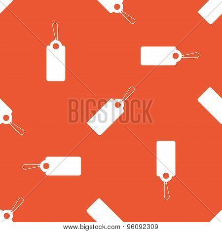 Orange string tag pattern