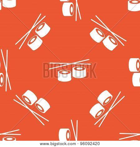 Orange sushi pattern