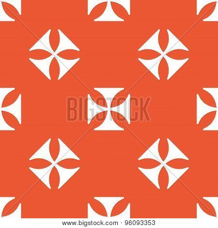 Orange maltese cross pattern