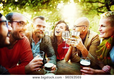 Party Celebrating Friendship Drinking Togetherntess Concept