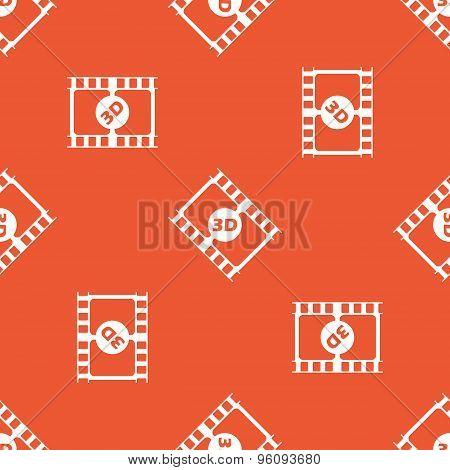 Orange 3D movie pattern