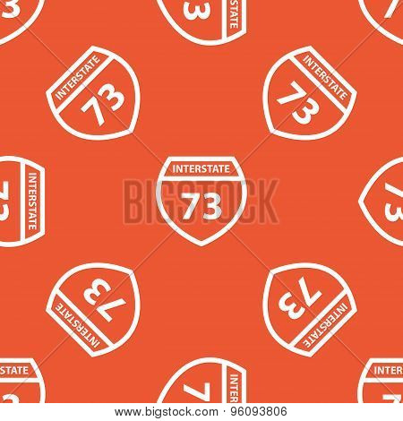 Orange Interstate 73 pattern