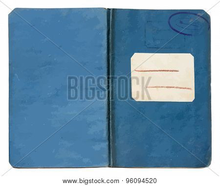 old note book on white background, vector