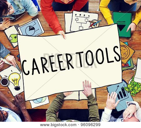 Career Tools Guidance Employment Hiring Concept