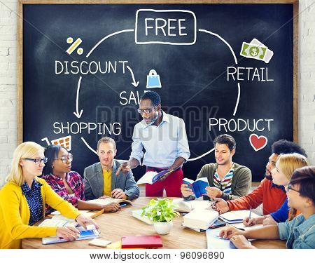 Free Product Shopping Retail Sale Market Concept
