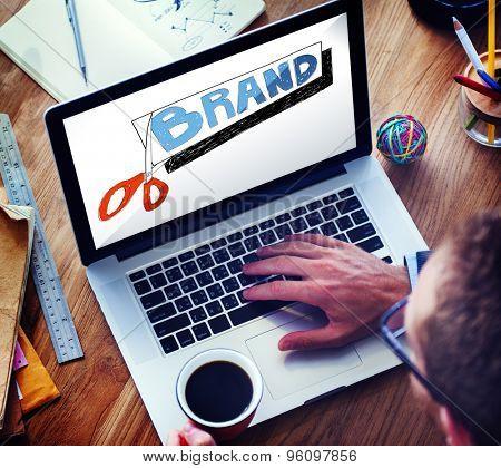Brand Advertising Commerce Copyright Marketing Concept