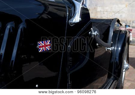 Oldtimer With Brittish Flag