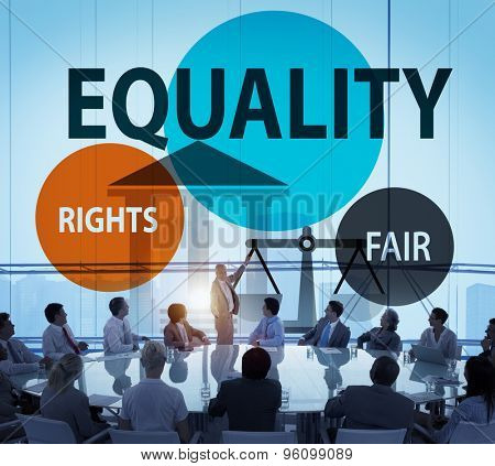 Equality Parity Balance Justice Fair Concept