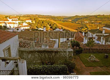Romantic medieval village of Obidos, Portugal