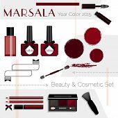 picture of marsala  - Marsala color Beauty  - JPG