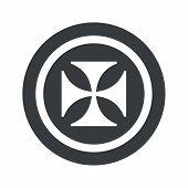 stock photo of maltese-cross  - Image of maltese cross in circle - JPG