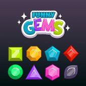 Постер, плакат: Gems set