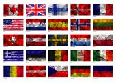 picture of flags world  - drawing  set of flags of the world abstract texture - JPG