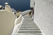 stock photo of pov  - Decoration detail in Oia village Santorini island Greece - JPG